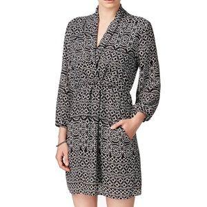 Bar III Black White 3/4 Sleeve Sheath V Dress NWT